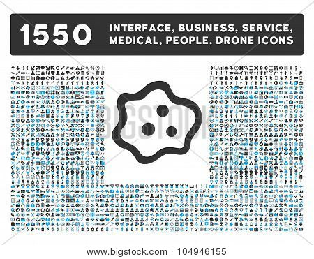 Amoeba Icon and More Interface, Business, Medical, People, Awards Glyph Symbols