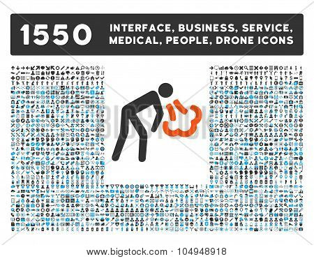 Cough Icon and More Interface, Business, Medical, People, Awards Glyph Symbols