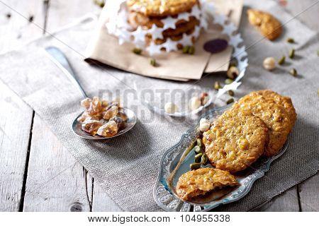 Caramel florentine cookies.Chistmas present.