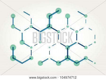 Abstract Vector hexagons template.