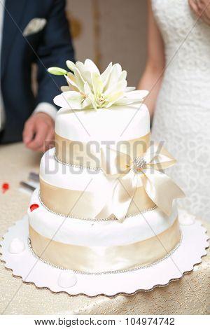 White Multi Level Wedding Cake