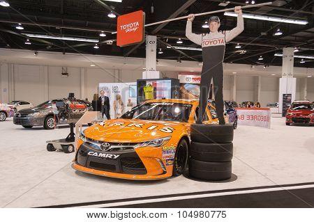 Toyota Camry  Nascar Race Car  On Display.