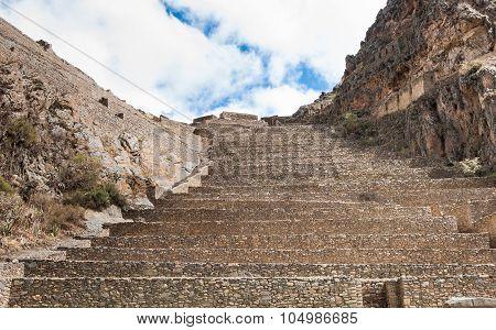 Terraces Of Pisac In Urubamba Valley Near Cusco (peru)