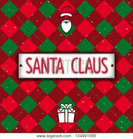 Santa Claus car number plate