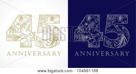 45 anniversary vintage logo.