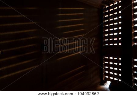 Light Falling Trough A Window On Wall