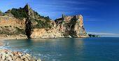 The cliffs in La Nao Cape, Alicante, Spain. poster