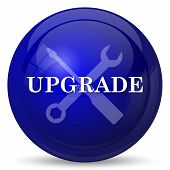 Upgrade icon. Internet button on white background. poster