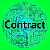Contract Word Indicating Bargain Deals And Text poster