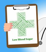 Low Blood Sugar Meaning Poor Health And Diseased poster