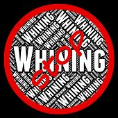 Stop Whining Showing Warning Sign And Complaining poster