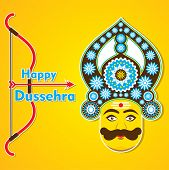 creative happy dussehra greeting card design vector poster