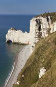 Cliff in Etretat Cote d'Albatre Pays de Caux Seine-Maritime department Upper Normandy region France poster