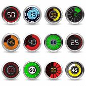 timers set Twelve different timers. Each timer has twelve positions. poster