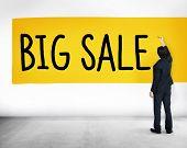 Big Sale Bonus Buying Cheap Discount Promotion Concept poster