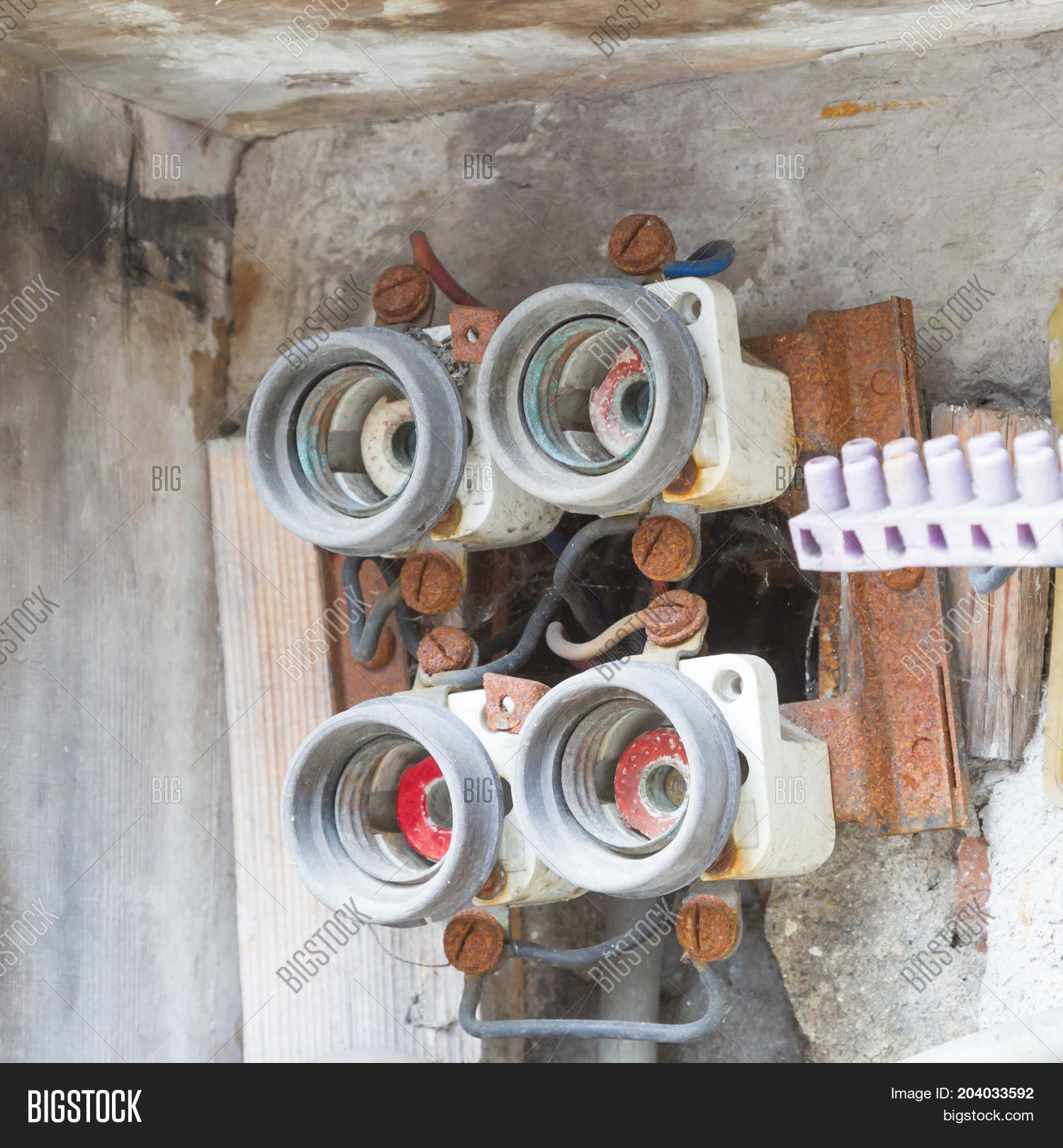 Very Old Fusebox Image Photo Free Trial Bigstock Fuse Box