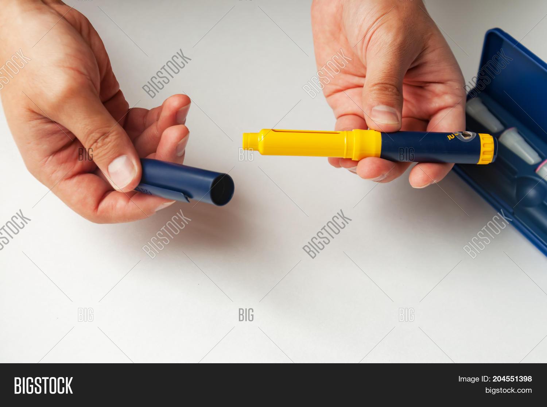 Man Holds Syringe Image & Photo (Free Trial)   Bigstock