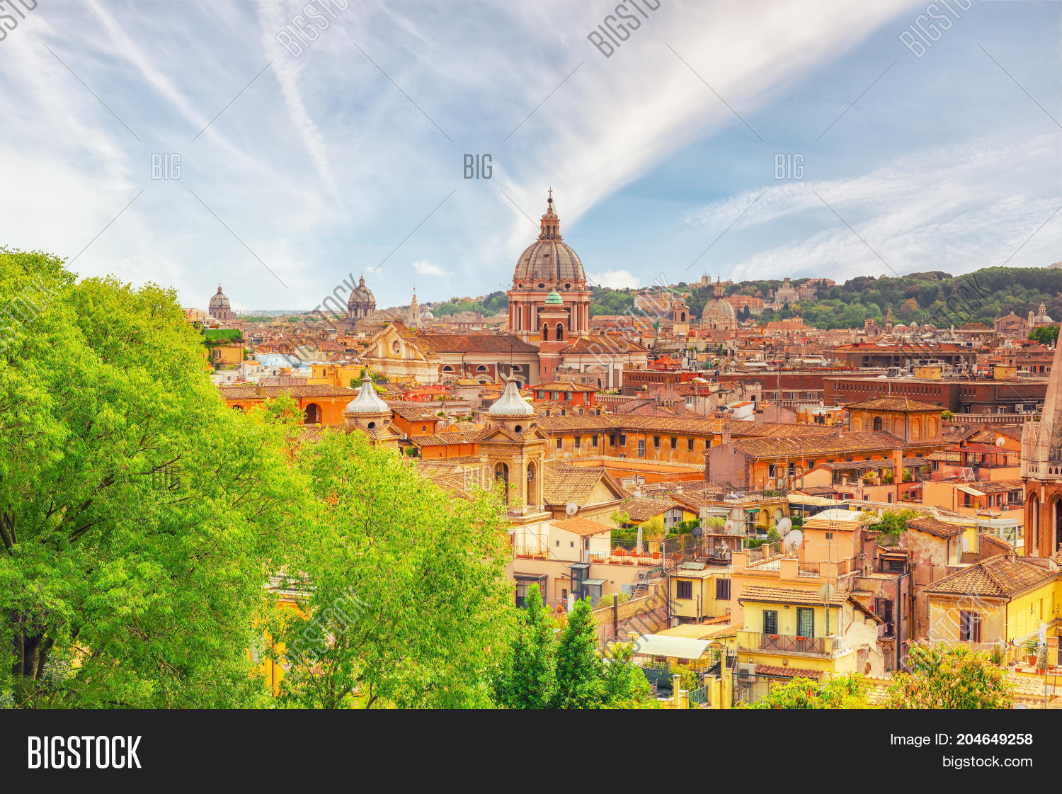 View City Rome Above, Hill Terrazza Image & Photo | Bigstock