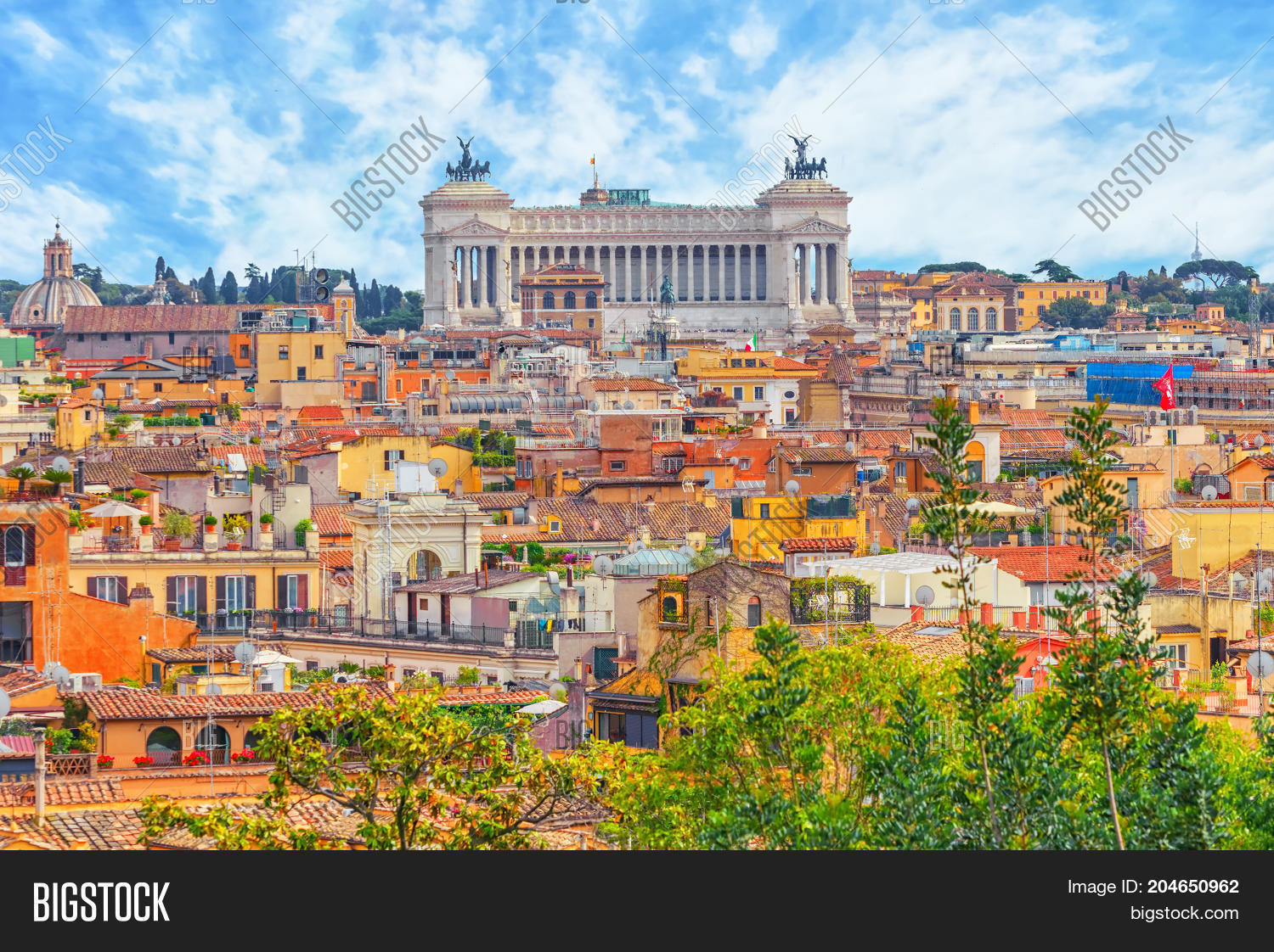 View City Rome Above Image Photo Free Trial Bigstock