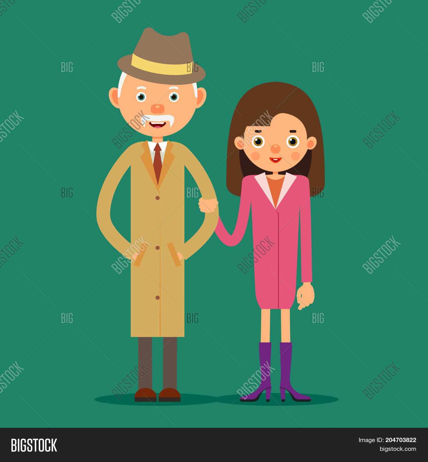 Old Man Young Girl Image Photo Free Trial Bigstock