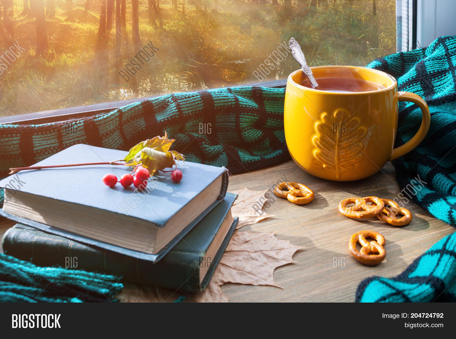 Fall Background Cup Image Photo Free Trial Bigstock