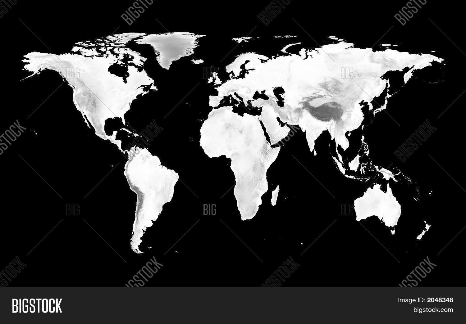 World map grayscale image photo free trial bigstock world map with grayscale elevation gumiabroncs Gallery