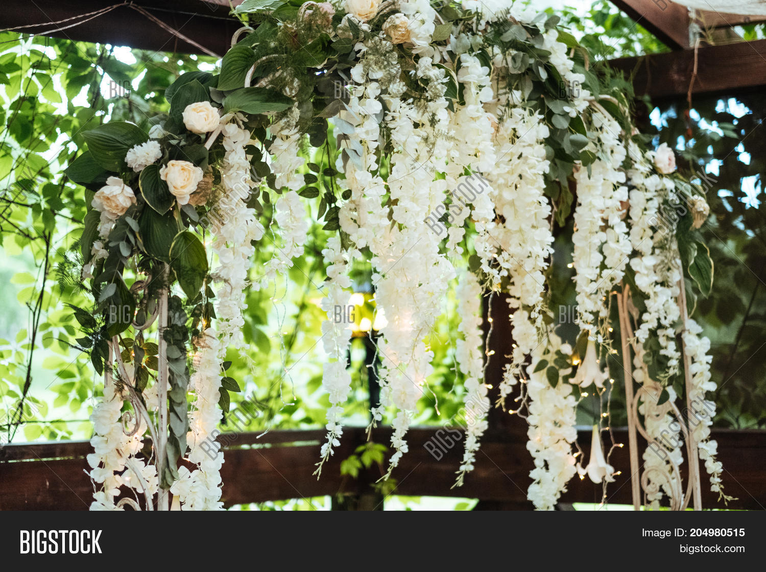 Wedding Arch Decorated Image Photo Free Trial Bigstock