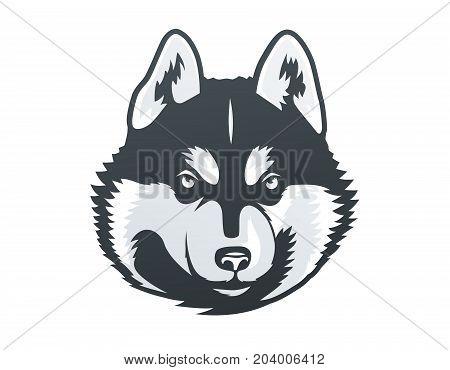 Husky Template | Siberian Husky Head Vector Photo Free Trial Bigstock