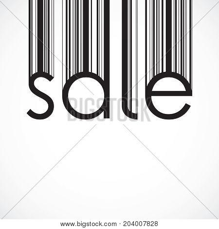 Sale background. Barcode style. Vector illustration eps 10
