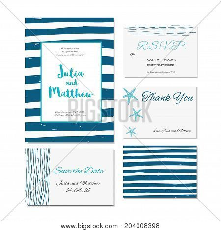 Wedding invitation thank you save the date baby shower menu information RSVP. Collection of card templates for marriage bridal birthday Valentine's day. Stylish hand drawn design
