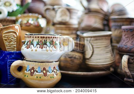Ukrainian Utensils Made Of Clay