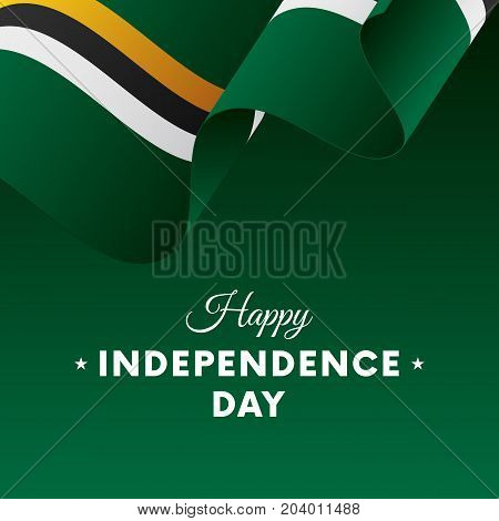 Banner or poster of Dominica independence day celebration. Waving flag. Vector illustration.