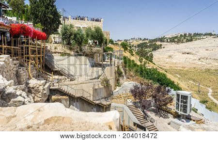 JERUSALEM, ISRAEL - MAY 9: Archaeological site, City of David in Jerusalem, Israel on May 9, 2017