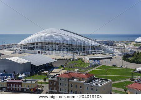 Sochi, Russia - September 11, 2017: Stadium Fisht at the Olympic Park on September 11, 2017
