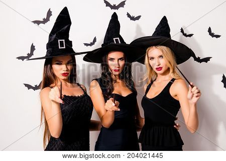Dark Spirits Culture. Diabolic, Satanic, Devil, Hex, Wiccan Exorcist Paranormal Ritual. Three Hot So