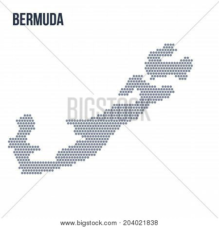 Vector Hexagon Map Of Bermuda Isolated On White Background