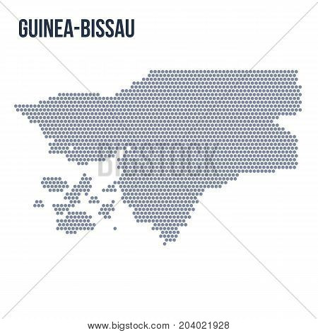 Vector Hexagon Map Of Guinea-bissau Isolated On White Background
