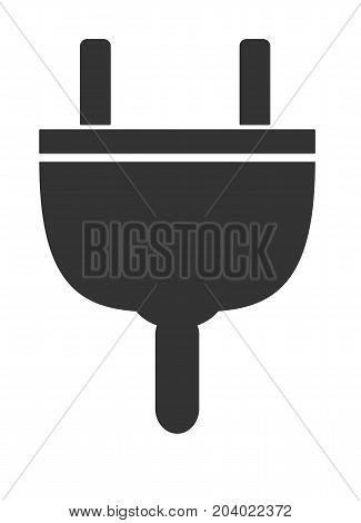 plug icon on white background. plug sign. flat style.