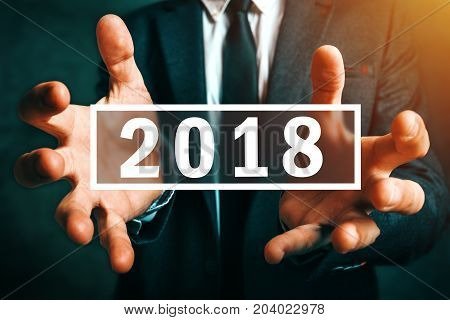 Happy new 2018 business year new opportunities and beginnings