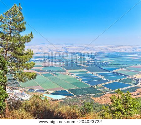 Scenic View On Hula Valley, North Israel.