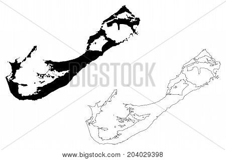 bermuda island map vector illustration , scribble sketch bermuda island