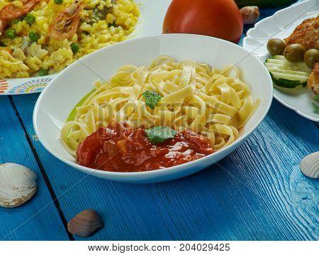 Mediterranean Cuisine, Tagliatelle Alla Marinara