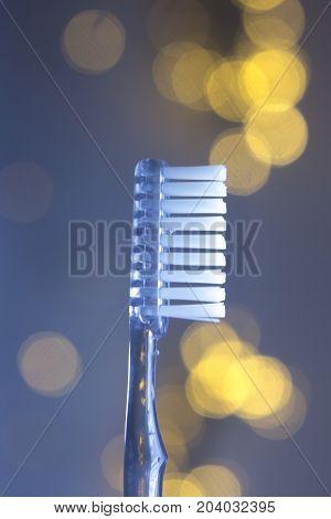 Dental Toothbrush Closeup