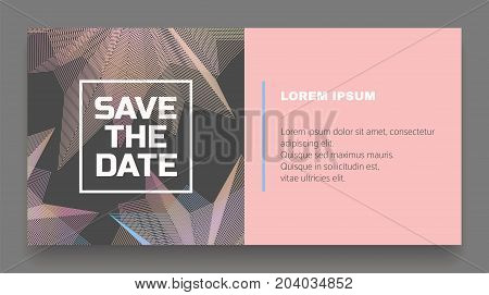 Abstract save the date card. Abstract universal background. Vector illustration