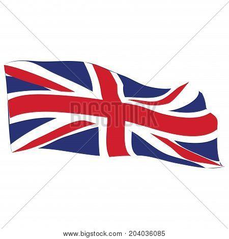 Isolated flag of the United Kingdom, Vector illustration