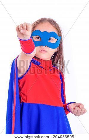 Young Girl In Superhero Costume