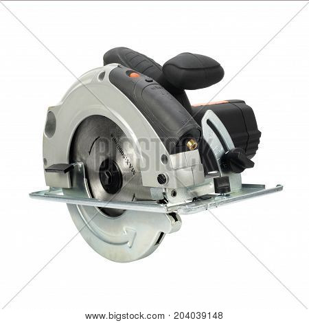 Construction repair tools - Hand circular saw on a white background. Isolated