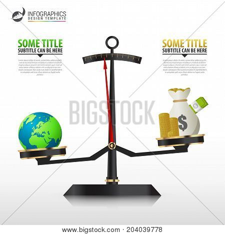 Business golden style price scale. Infographics template. Vector illustration