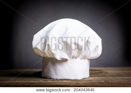 White cook cap white background single object color image professional occupation