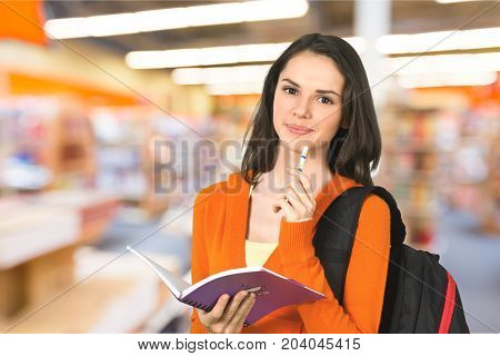 Girl student person one female young smiling